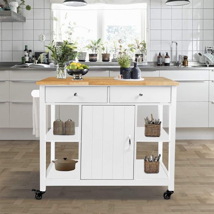 ChooChoo Kitchen Cart on Wheels With Wood Top   The Best ...