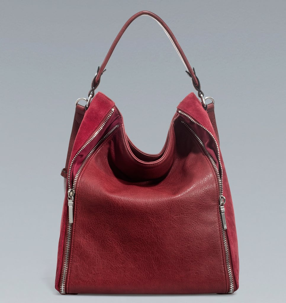 If you have a friend in the mix who can't get enough of in-season arm candy, look no further than this Zara Bucket Bag With Zips ($90). Its edgier zippered sides, slouchy shape, and wintry red hue have all the makings of a seasonal must-have accent.