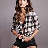 Lily Aldridge For Velvet Rita Plaid Button-Up Shirt ($114) Source: Courtesy of Velvet
