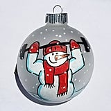 CrossFit Snowman Ornament