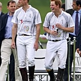 They shared a laugh after playing in the Audi Polo Challenge in May 2014.