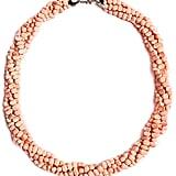 Pink Bead Twist Statement Necklace ($21)