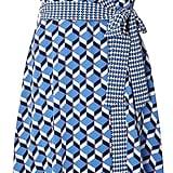 Dorothy Perkins Blue Geometric Print Wrap Dress