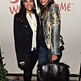 Zoe attended a Levi's event at the Sundance Film Festival in a rocker-chic Alexander McQueen jacket.