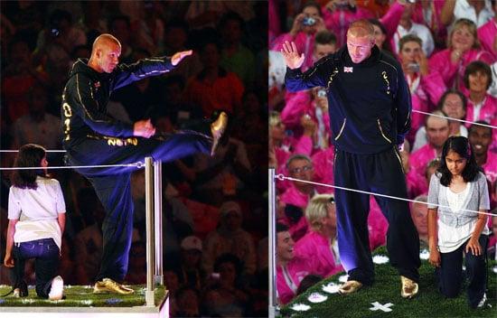 Photos of David Beckham's Appearance at Beijing Olympics Closing Ceremony