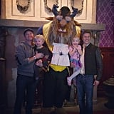 Gideon and Harper Burtka-Harris got a boost from their dads during their visit with the Beast. Source: Instagram user instagranph