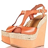 We love these pumped-up leather wedges.  WHAMM Espadrille Leather Wedges ($130)