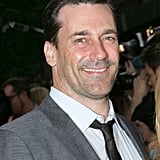 Jon Hamm smiled at a screening of To Rome With Love at NYC's Paris Theatre.