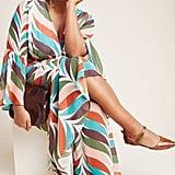 Elysees Geometric Wrap Maxi Dress