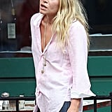 Mary-Kate Olsen looking tan in NYC.