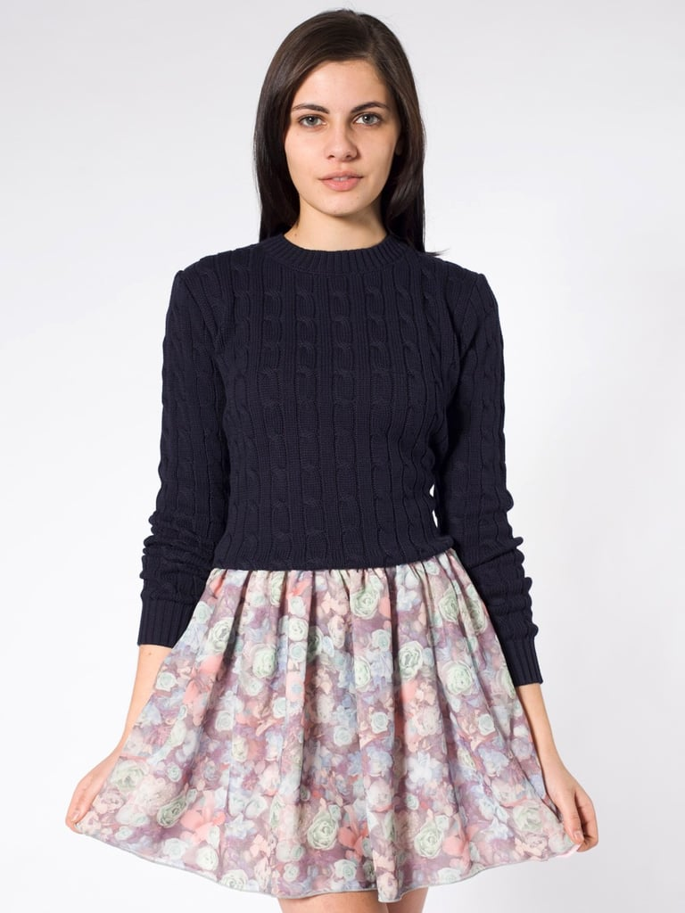 Everyone needs a floral skirt for Spring, and this one is subtle enough to be worn for evening, too.  American Apparel Floral Chiffon Skirt ($42)