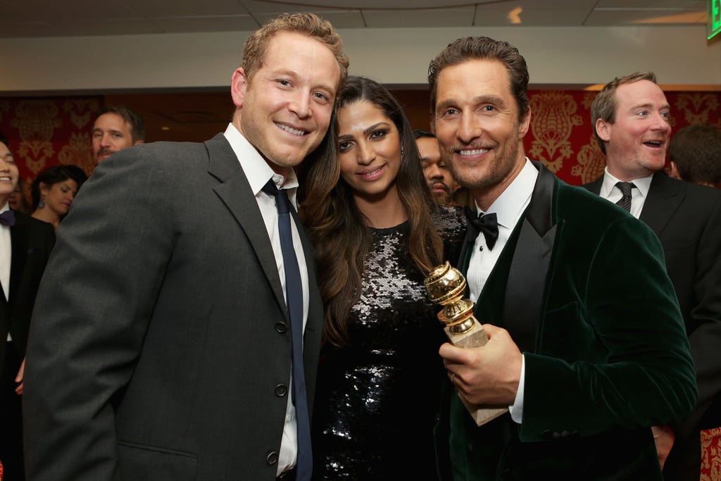 Matthew McConaughey and Camila Alves celebrated his win with Cole Hauser.