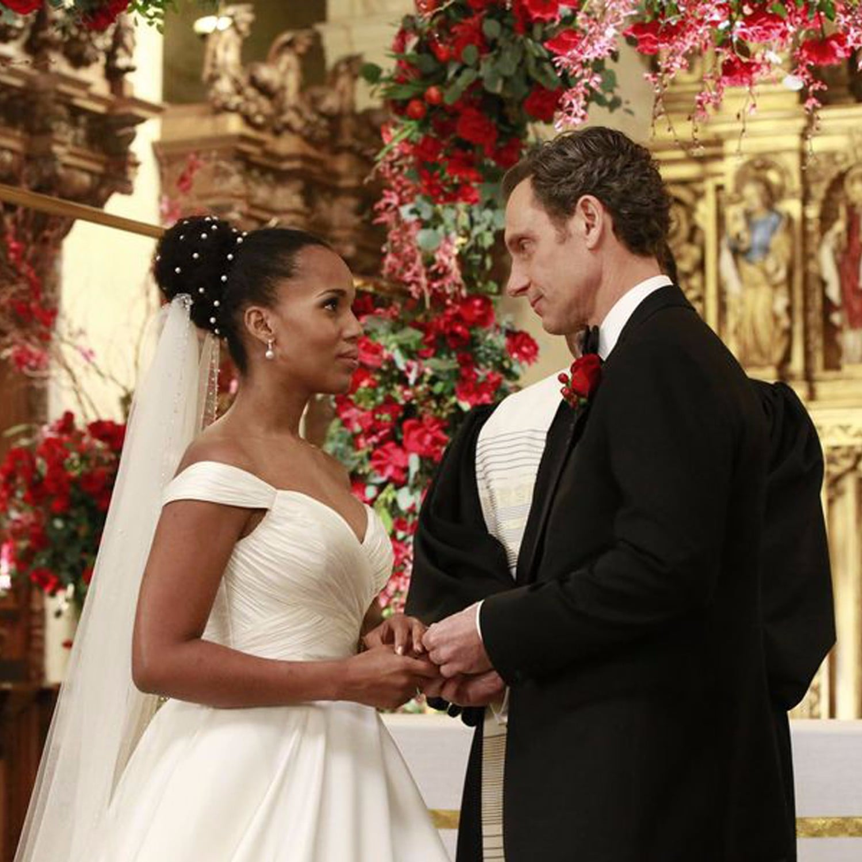 Olivia Pope\'s Wedding Dress on Scandal | POPSUGAR Fashion