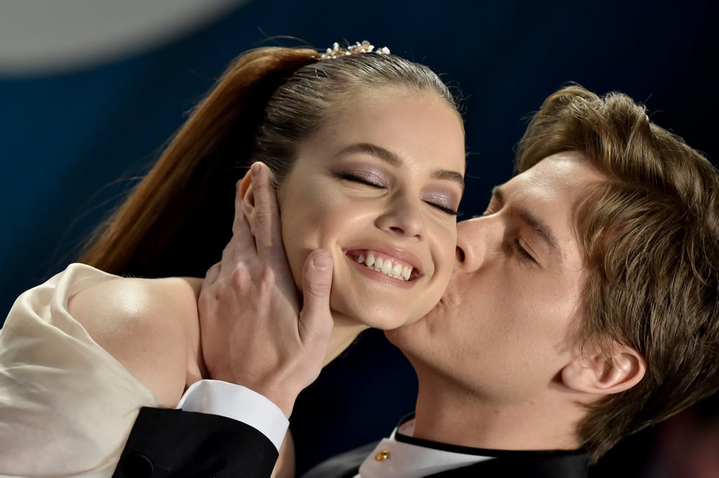 It seems Barbara Palvin and Dylan Sprouse celebrated Valentine's Day a little early this year — and at the Oscars afterparty, no less! The abundantly attractive couple of nearly two years attended Vanity Fair's annual star-studded event on Sunday with Dylan's twin brother, Cole Sprouse, as well as the majority of the Riverdale cast.  Barbara wore a romantic nude dress with a high leg slit, while Dylan essentially looked like her Prince Charming in a blazer featuring several embroidered crowns. Though they served many modelesque poses with smoldering expressions, the couple also cracked up quite a bit as Barbara offered a purposefully corny thumbs-up and Dylan, who was also captured adjusting Barbara's dress at one point, gave her a sweet kiss on the cheek. See all the photos ahead.      Related:                                                                                                           The Glamour Continues! These Oscars Afterparty Dresses Will Leave You in Awe
