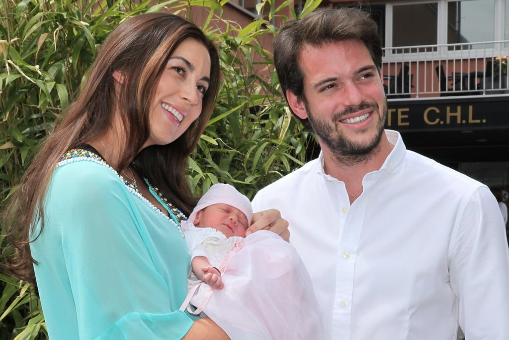 Prince Félix and Princess Claire of Luxembourg introduced their first child, Princess Amalia, to the world this week. The royal baby was born on June 15, and the couple posed for pictures as they left the hospital on Tuesday. The little one's full name is Princess Amalia Gabriela Maria Teresa, which pays tribute to her grandmothers, Grand Duchess Maria Teresa and Gabriele Lademacher. Prince Félix and Princess Claire got married this past September in a gorgeous fairy-tale wedding in Saint-Maximin-la-Sainte-Baume, France, following a civil ceremony in Princess Claire's home country of Germany. Celebrate their new arrival with a look at Princess Amalia's adorable debut!