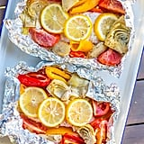 Grilled Caesar Salmon Foil Packets​​
