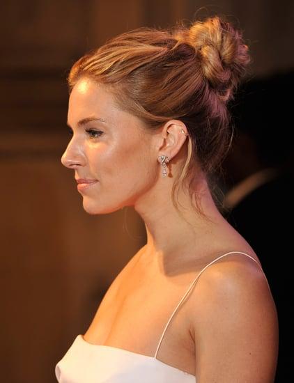 Sienna Miller Textured Bun BFI Gala Dinner