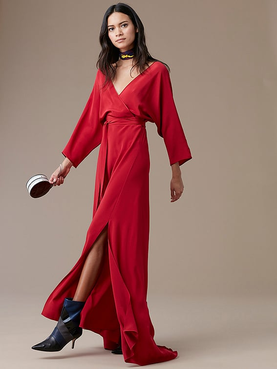 Diane von Furstenberg Long-Sleeve Floor-Length Wrap Dress | DVF ...