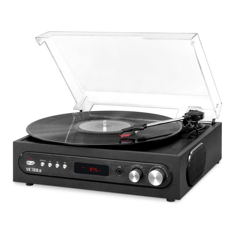 Victrola Black Turntable