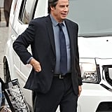 John Travolta was in Boston on Wednesday to shoot scenes for The Forger.