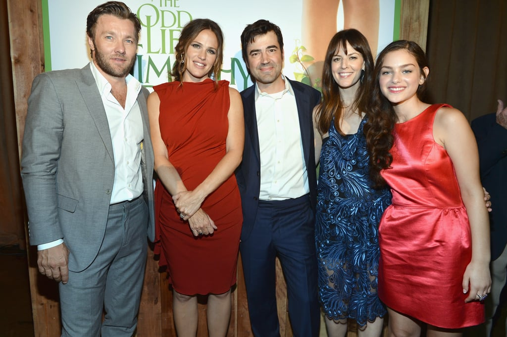 Joel Edgerton, Jennifer Garner, Ron Livingston, Rosemarie DeWitt and Odeya Rush were all smiles at the LA premiere of their new film The Odd Life of Timothy Green.