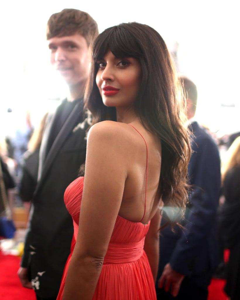Jameela Jamil Grammys Red Carpet 2019