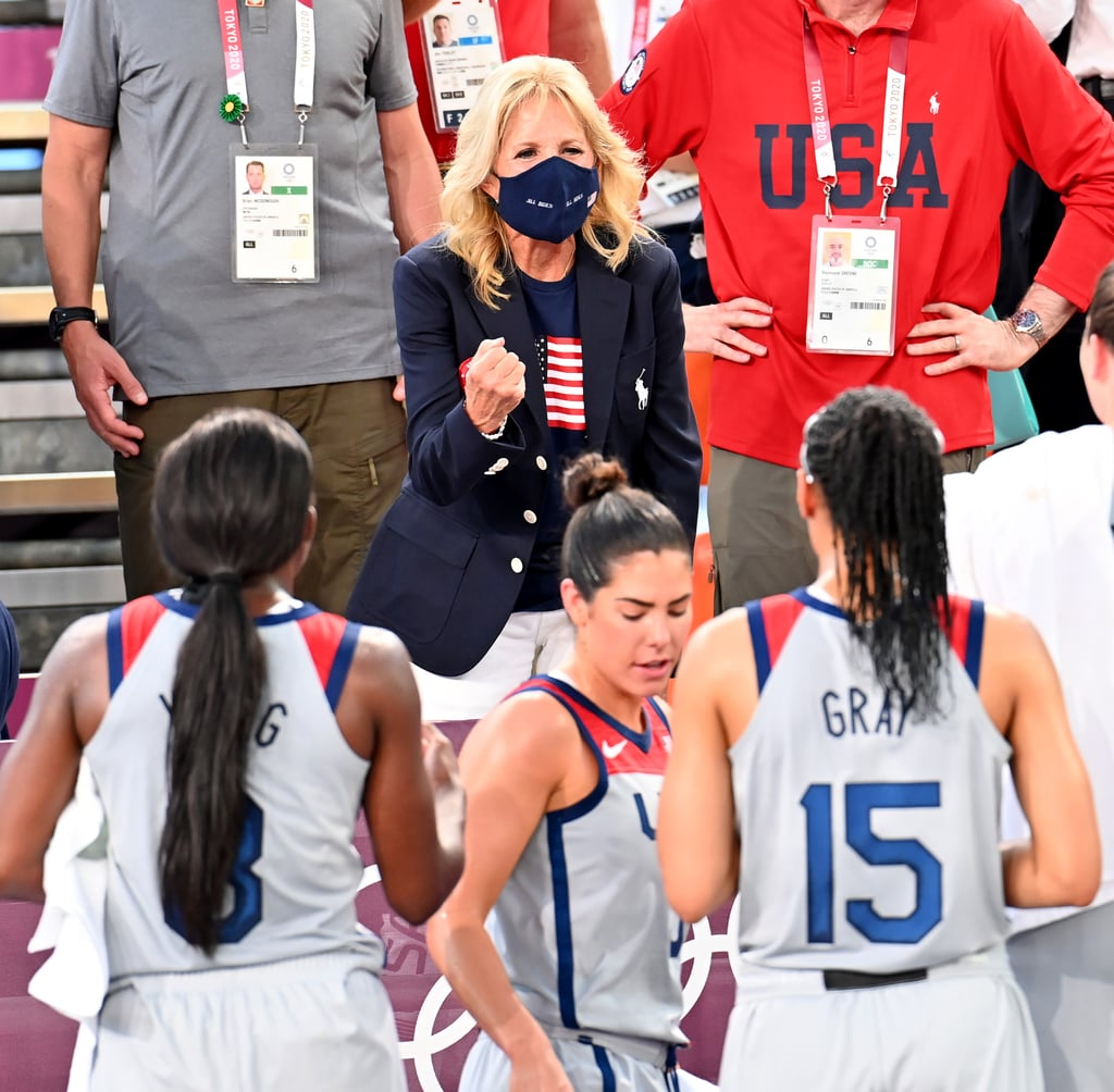 Jill Biden Cheering on Team USA at 2021 Olympics in Tokyo
