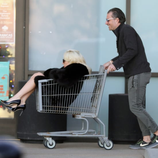 Lady Gaga Riding in a Shopping Cart With Christian Carino