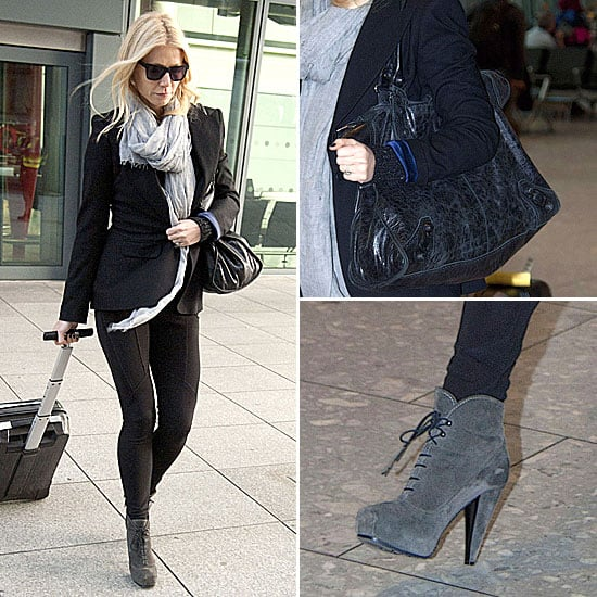 Gwyneth Paltrow Proenza Schouler Boots December 5, 2011