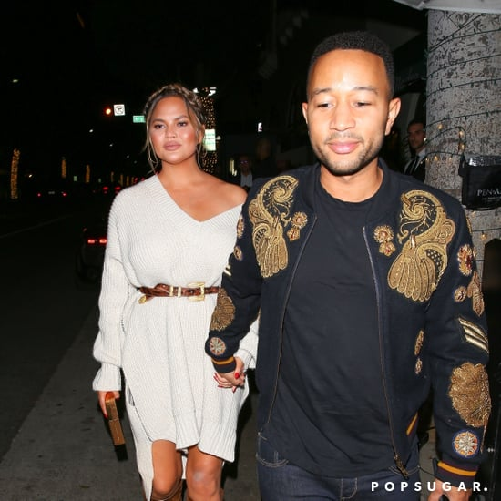 Chrissy Teigen's White Sweater Dress