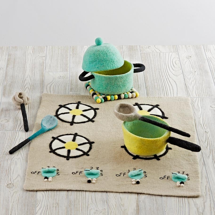 Felt Gourmet Plush Cooking Set Gifts For Kids Who Like To Cook