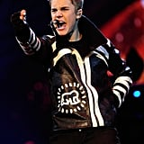 Justin commanded the stage with his sharp dance moves.
