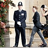 Wind at Princess Eugenie's Wedding Pictures Oct. 2018