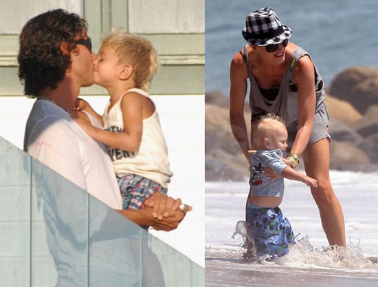 Photos of the Stefani-Rossdales at the Beach