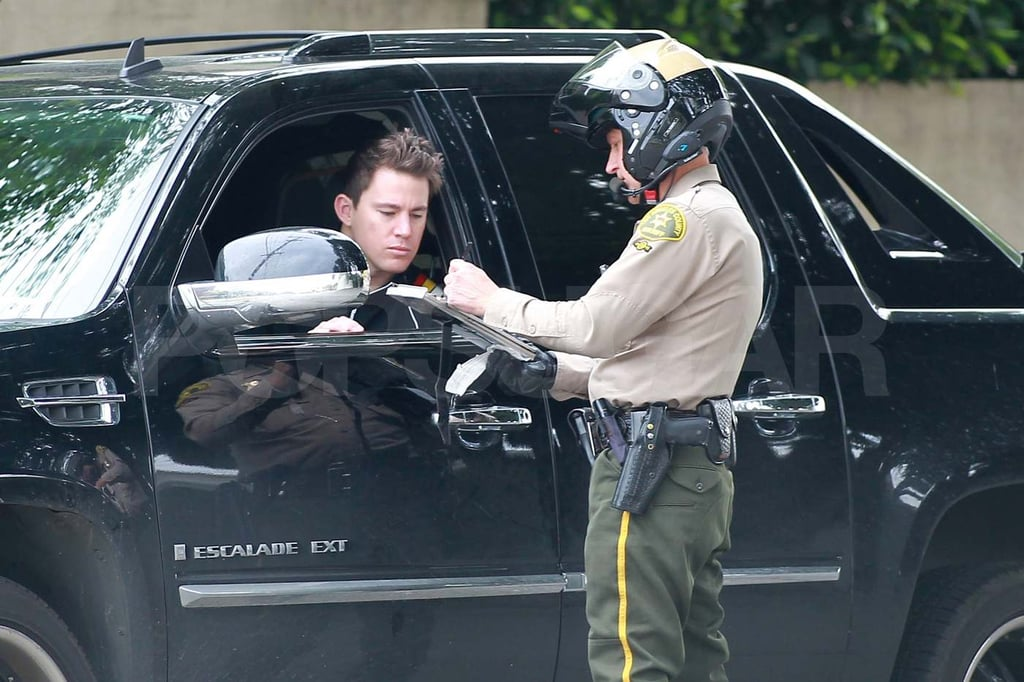 Traffic Cop Pull Over : Pictures of channing tatum being pulled over by a cop and