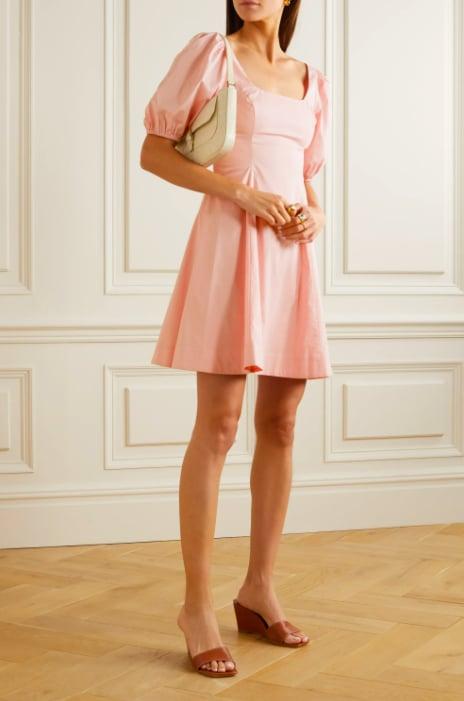 STAUD Laelia Stretch-Cotton Poplin Mini Dress ($331.89)