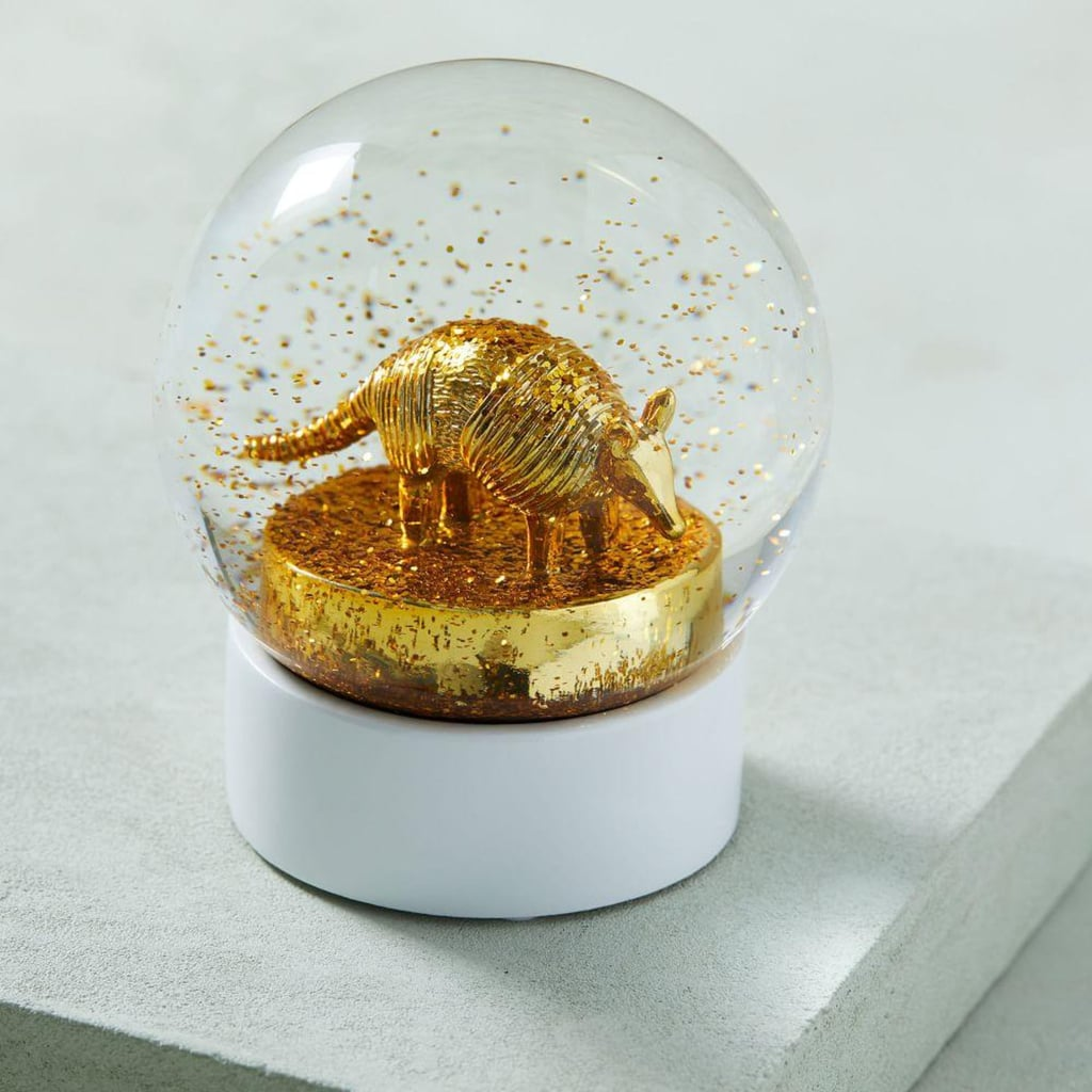 West Elm Armadillo Snow Globe, $34