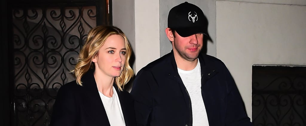 John Krasinski and Emily Blunt Enjoy a Night in at Jennifer Aniston's NYC Apartment