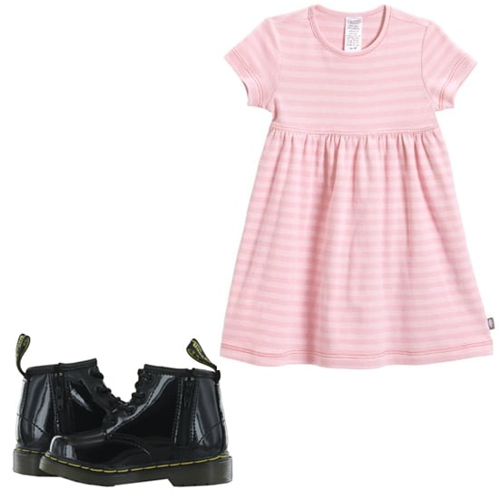 Toughen up a girlie black Dr. Martens ($65), and she'll be the playground's best-dressed.