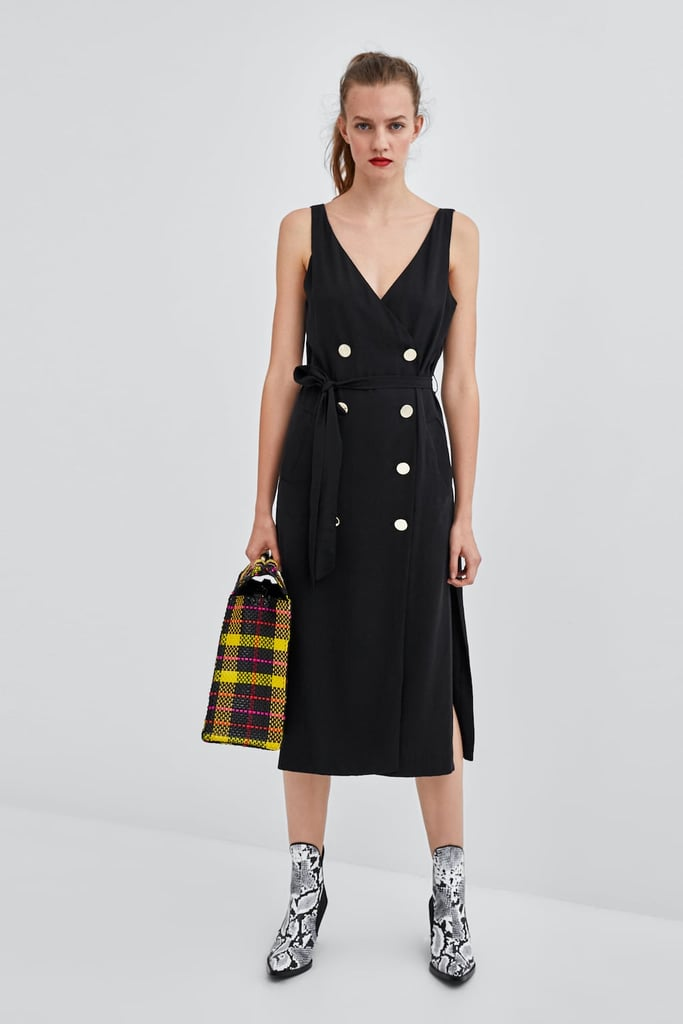 a75940ee088 Zara Midi Dress With Buttons