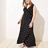 Loft Plus Fern Wrap Maxi Dress