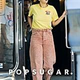 Selena Gomez Acid Wash Jeans September 2018