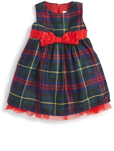 Dorissa Tartan Sleeveless Party Dress
