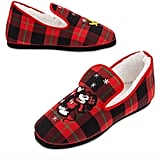 Disney Mickey Mouse and Pluto Holiday Plaid Slippers