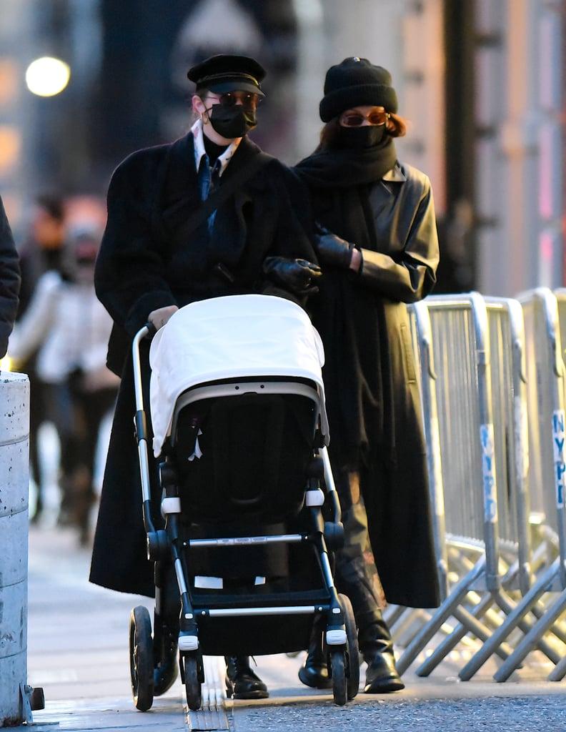 Gigi and Bella Hadid Take Gigi's Daughter For a Walk in NYC