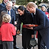 When She and Prince Harry Greeted Schoolchildren Named Megan and Harry