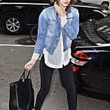 Miranda Kerr had that perfect street-chic balance with low-key separates and a statement-worthy fedora.