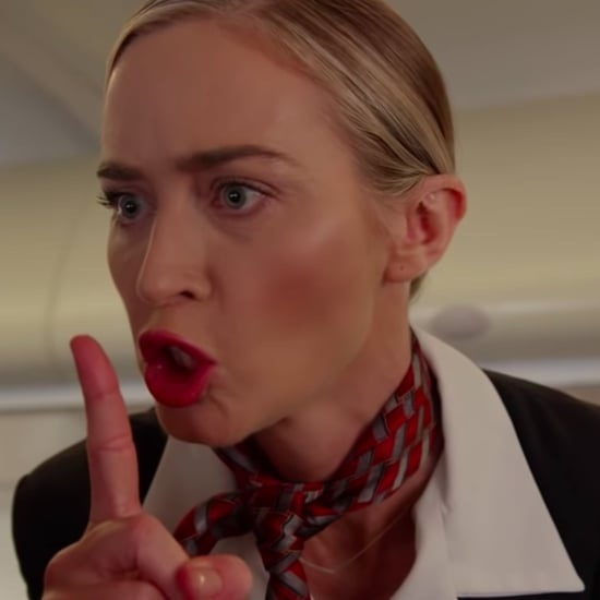 Watch Emily Blunt's A Quiet Plane Parody on Kimmel Live