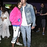 Alessandra Ambrosio and Nicolo Oddi at Coachella 2019