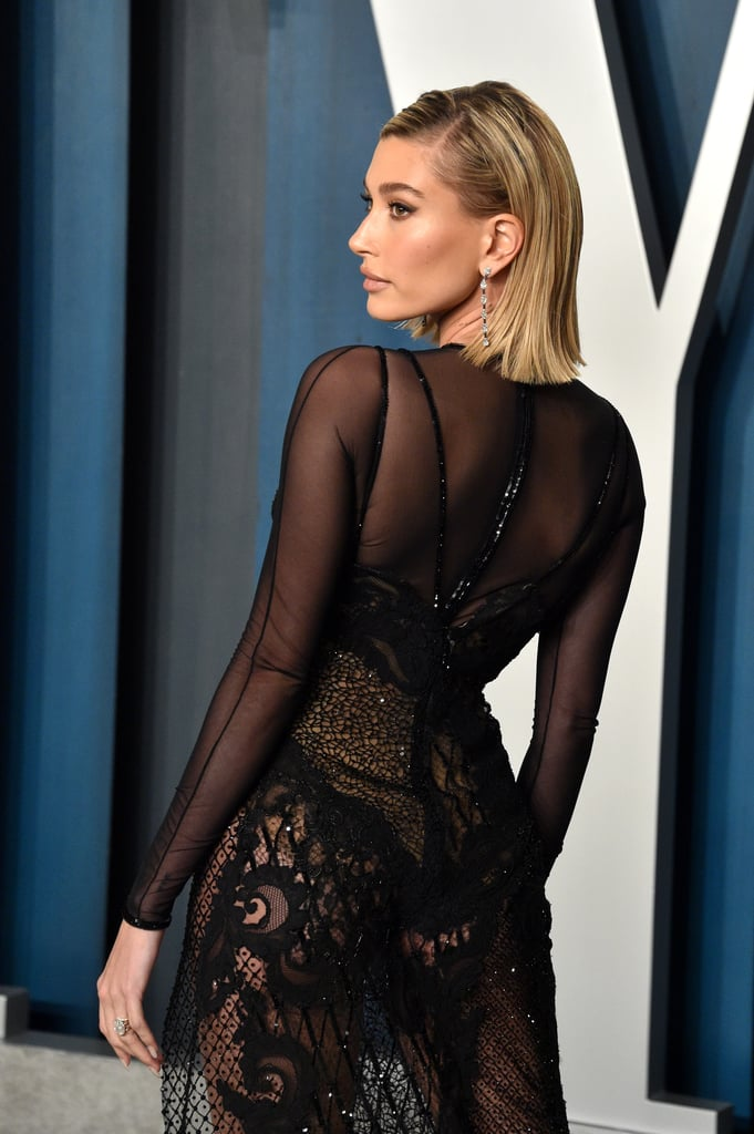 Hailey Bieber's Dress at Vanity Fair Oscars Party 2020